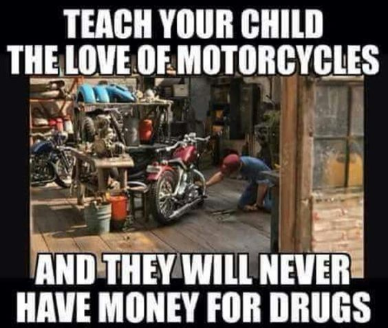 The love of motorcycles
