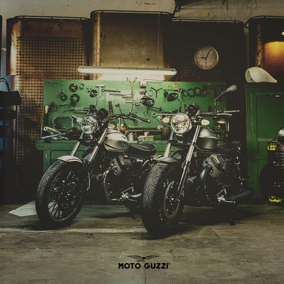 The new Moto Guzzi V9: a choice of character, in two different shades of personality. | #MotoGuzzi #MotoGuzziV9 #mybikemypride #italia #bike