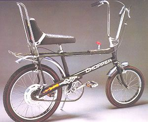 The Raleigh Chopper.  I'd take it over the Stingray any day.  #vintage #cycling #bicycles #choppers
