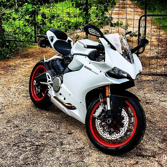 The sexy 899 Panigale in white