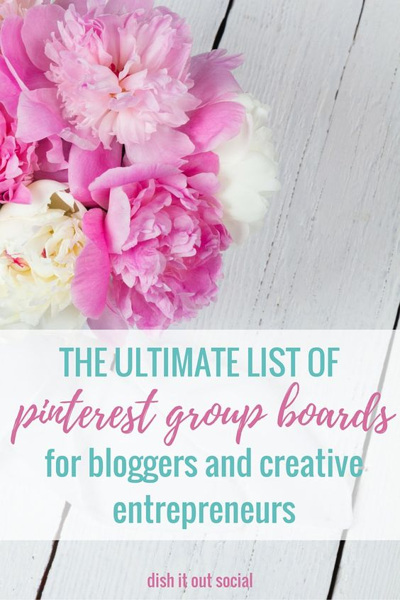 The ultimate list of over 25 Pinterest Group Boards for bloggers and creatives.