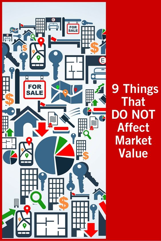There are many things that can help determine the market value of your house - but these nine items DO NOT!