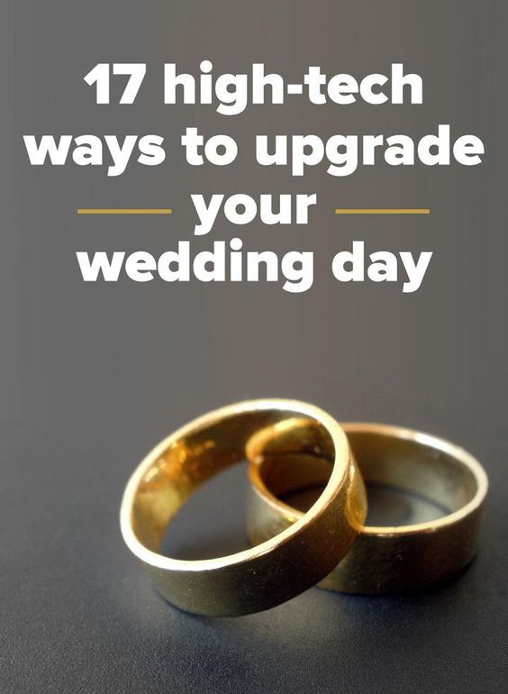 These gadgets will give your wedding day a high-tech upgrade