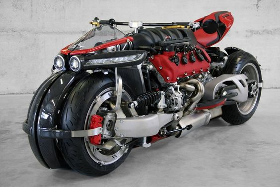 This Maserati-powered motorcycle is a 470 horsepower,  V8 of pure adrenaline-pumping insanity!