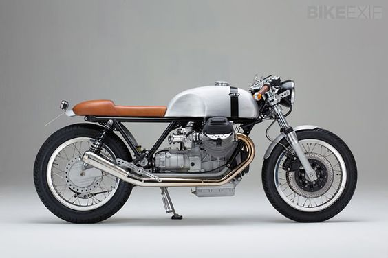 This Moto-Guzzi is classic. Ever since I lived in Asheville and worked at a shop in front of Precision Imports I have had a crush on Moto-Guzzi, Ducati, and BMW Cafe Racers. I should buy one.