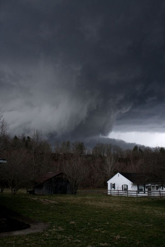 This same cyclonic cloud, (photo taken in and) which devastated West liberty, Ky, March 2012, traveled over 100 miles to drop  mail addressed West Liberty, KY, in Cross Lanes, WV.