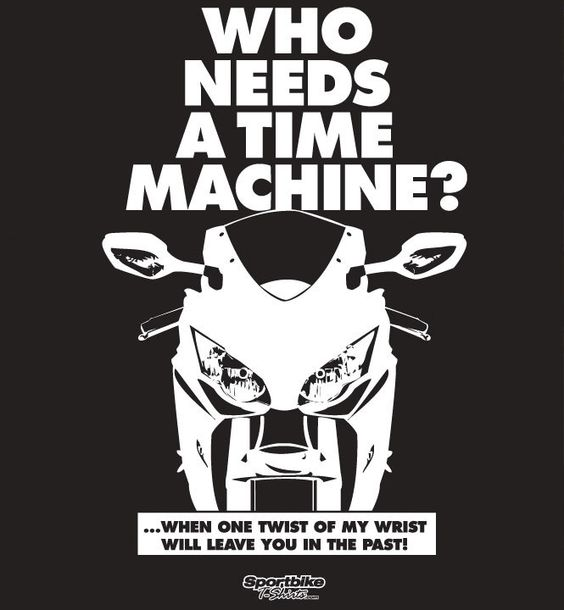 Time Machine T-Shirt — SportBike T-Shirts Store $ #sportbike #motorcycle #apparel #tshirt #graphic #sport #bike #tee #design #shirt #casual #sportsbike #sport #bike #Honda #CBR1000RR #CBR