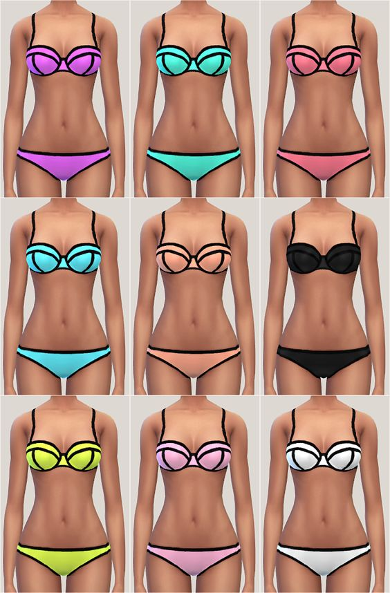 Triangl Swimwear - Milly Collection • meshes EA • standalone (top&bottom) • TF/YAF/AF/EF DOWNLOAD: mediafire / dropbox