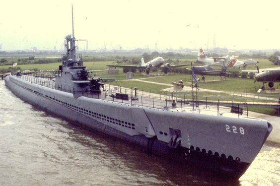 USS Drum - Launched on May 12, 1941, this was the first of the Gato class submarines completed before World War II. It represents what was the standard design for American fleet submarines at the beginning of that war. The USS Drum sank fifteen Japanese ships and earned twelve battle stars