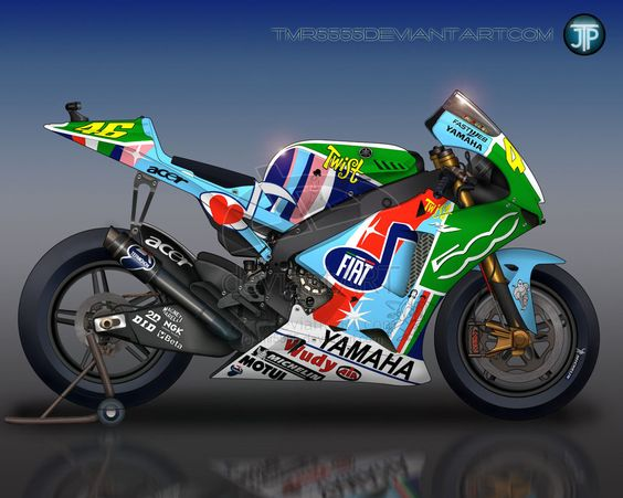 Valentino Rossi 2007 Yamaha M1 by  on @deviantART