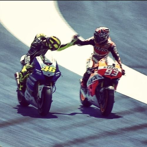 Valentino Rossi and Marc Marquez my fav moto gp the bstest