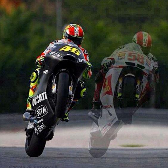 Valentino Rossi & Marco Simoncelli