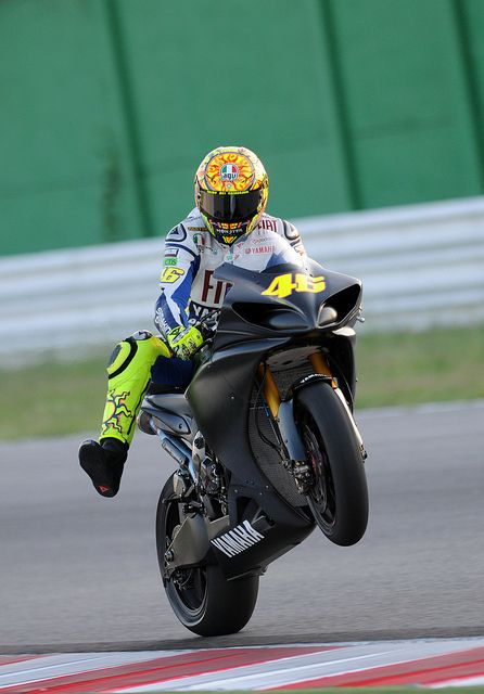 Valentino Rossi - Test ride in Misano by Fiat Yamaha Team, via Flickr