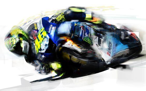 Valentino Rossi Yamaha YZR M1 Moto GP 80x50 cm 7/4/2013