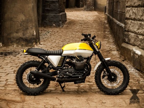 Very nice scrambler based on the italian Moto Guzzi V7 2012