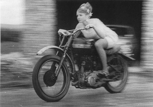 Vintage Biker Chick