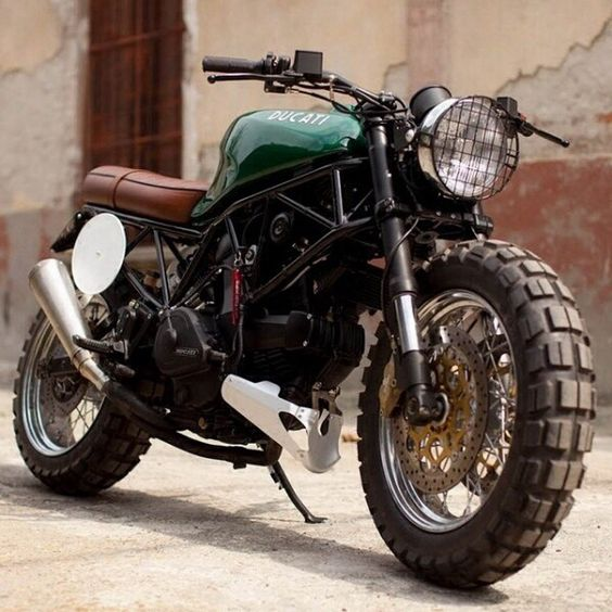 [Vintage Ducati trail bike] Either this one or a newer red sporty version. I am manifesting a Groupon or Living Social offer of motorcycle driving instruction and will own the bike that I like best.