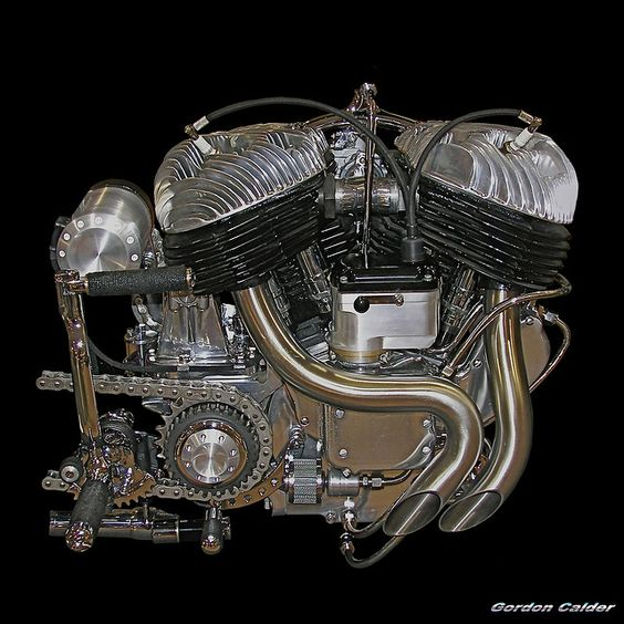 VINTAGE INDIAN MOTORCYCLE ENGINE