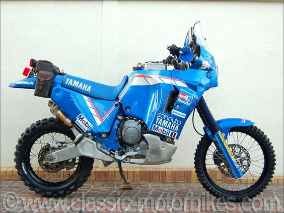 "vintage Paris Dakar Rally Motorcycles | For the 1991 Paris Dakar Rally, the Yamaha French Importer ""Sonauto ..."