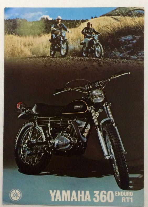 Vintage Yamaha 360 RT1 Enduro Dealer Poster or Brochure Framable Condition | eBay