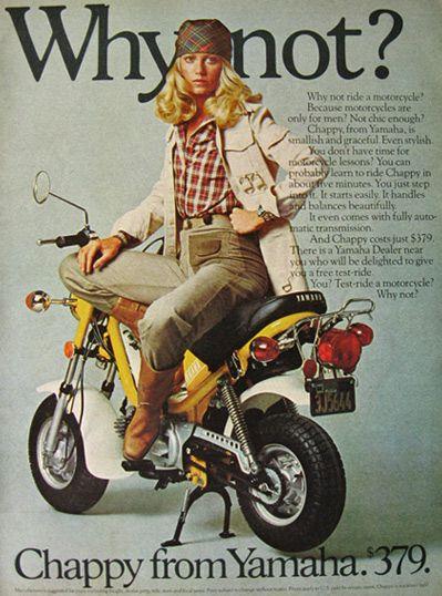 Vintage Yamaha Chappy Motorcycle Ad - 1976