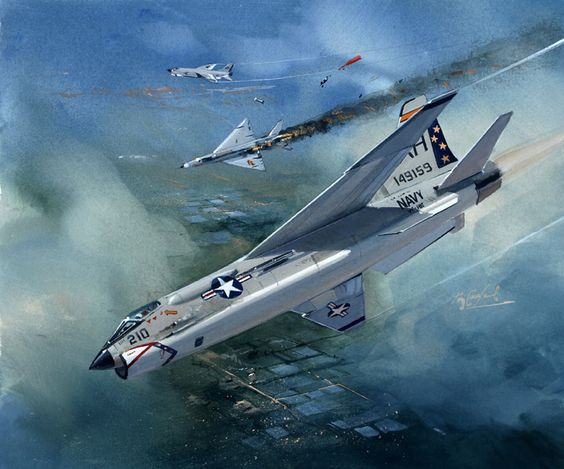 Vought F-8 Crusader downs a Mig-21 over Nam