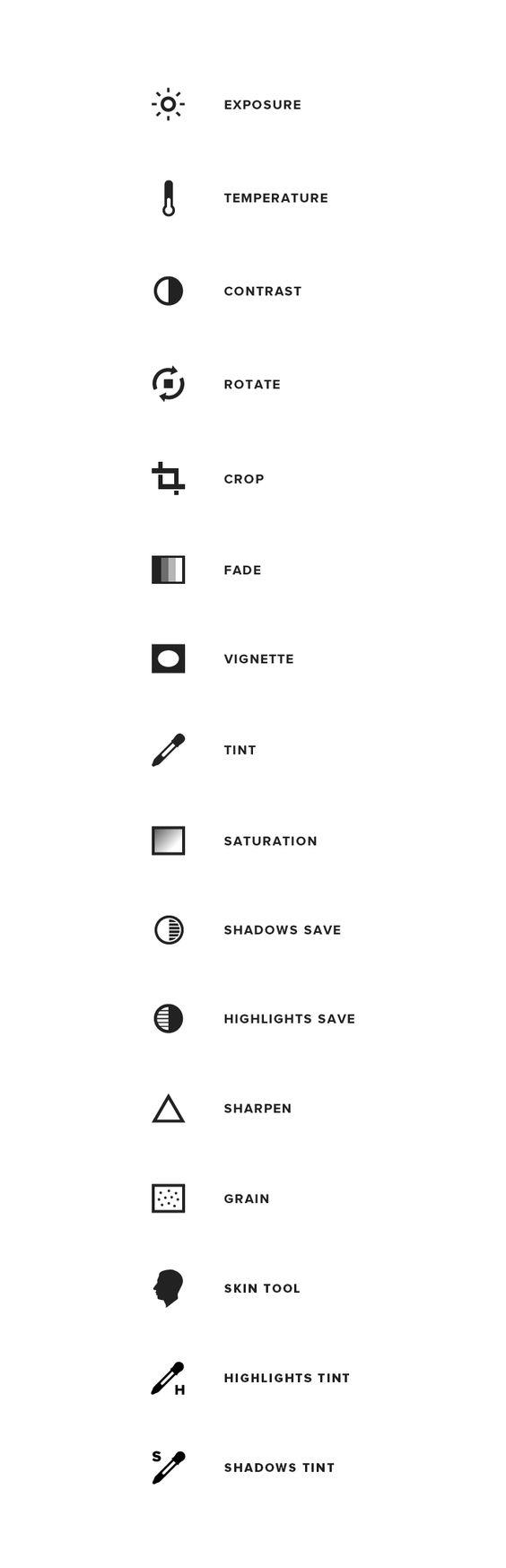 #VSCOcam tutorial — icons