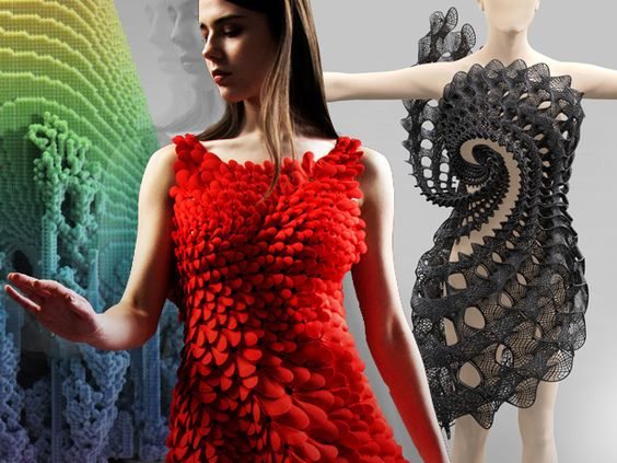 When tech and fashion collide—Boston MFA showcases 3D-printed fashions, laser-cut clothing and dresses sporting solar panels and LED lights in its exhibit—High-tech fashion goes far beyond the wrist; Details