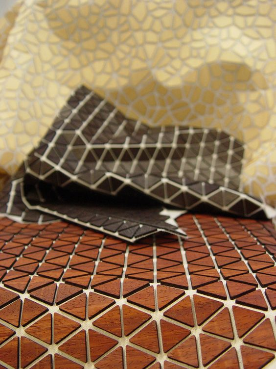 Wooden Mesh - new composite material by Diego Vencato, via Behance