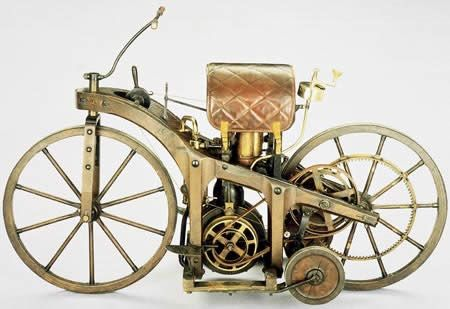 "World's First  Daimler's ""riding car"""