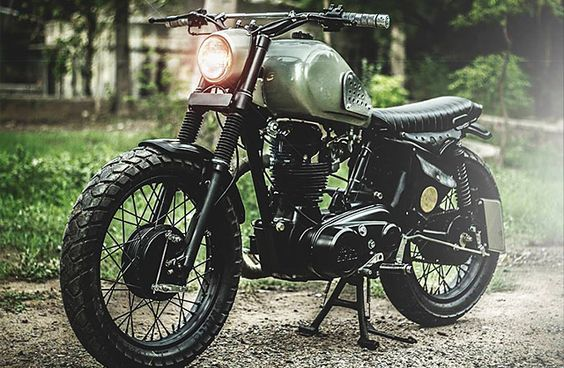 Written by Ian Lee. Royal Enfield motorcycles make a great platform for building custom bikes. Old school Brit styling, reliable single cylinder engines and factory spoke wheels. This is