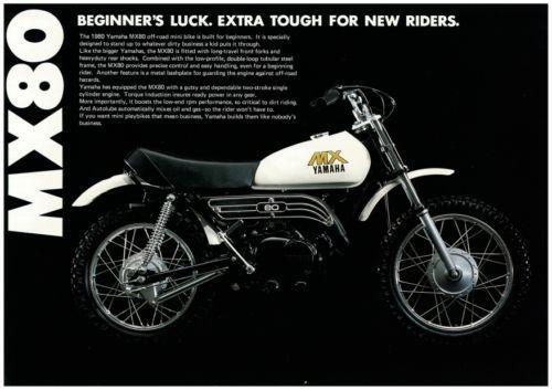 YAMAHA-Brochure-MX80-1980-VMX-Minibike-Sales-Catalog-Catalogue-REPRO