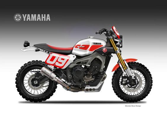 "Yamaha XSR 900 Street Tracker Dirtiest Sons ""Liveries"" Oberdan Bezzi #motorcycles #streettracker #motos |"