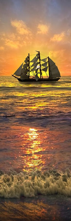 #ZBohom - Ships we are and sunsets on beach and icicles too.