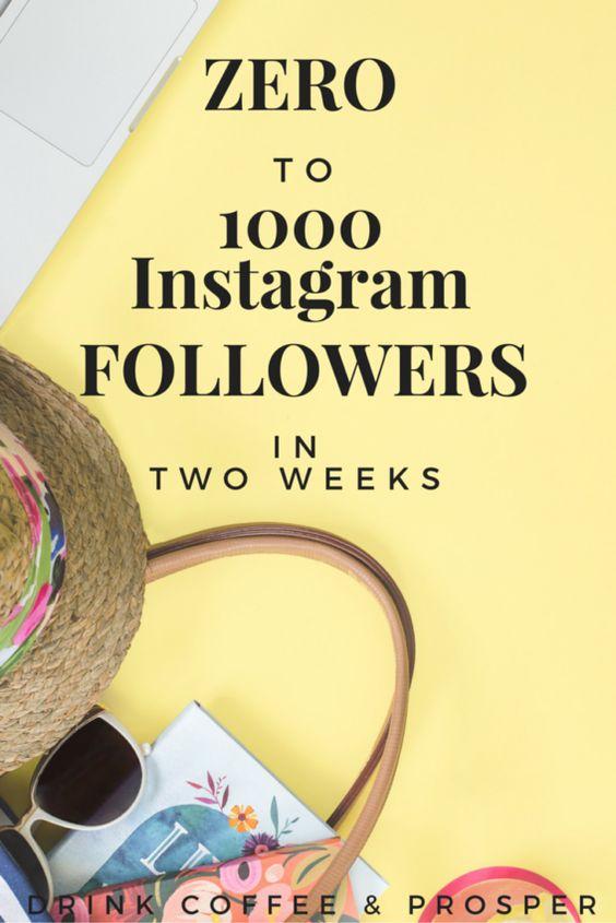 Zero to 1000 Instagram Followers in 2 weeks