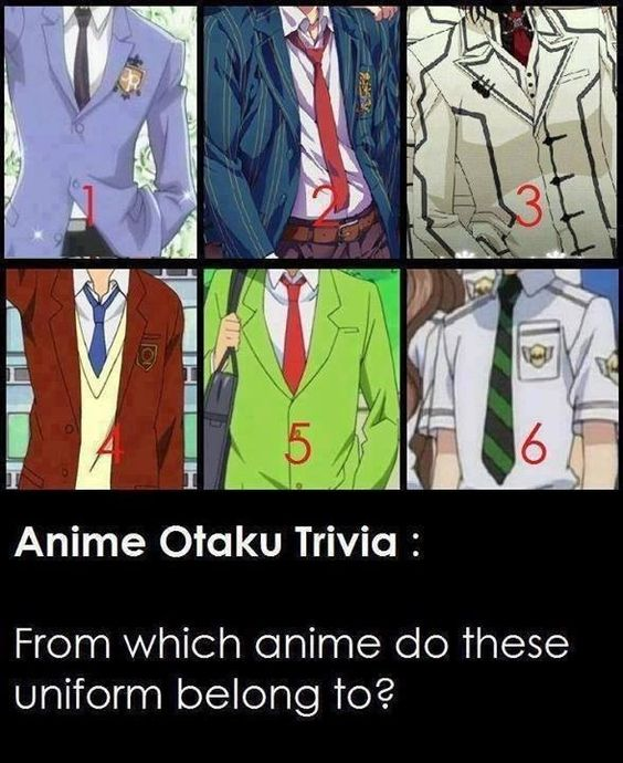 1. Ouran High School Host Club 2. Uta no Prince-sama 3. Vampire Knight Night Class 4. My Little Monster 5. Kaichou Wa Maid Sama 6. Special-A