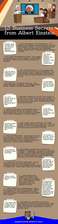 13 #BusinessSecrets From Albert  #business #inspiring #lessons