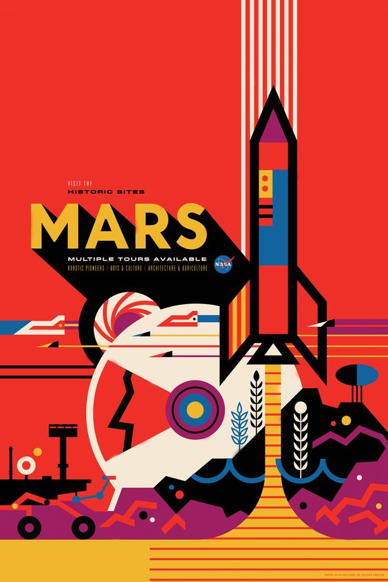 2015 was a big year for the popularity of space. So perhaps you'll forgive NASA if the space agency wants to capitalize on that momentum with some stellar new artwork. Today, Seattle design