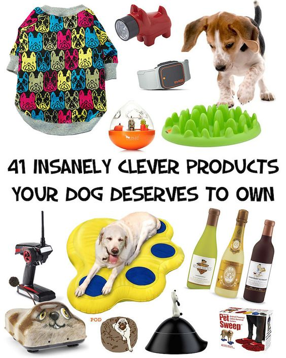 41 Insanely Clever Products Your Dog Deserves To Own. Most of these things are so dumb and yet I want to buy almost everything haha.