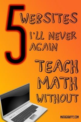 5 websites that can really help with math class!