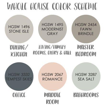 A Rural Urban | Whole house color scheme