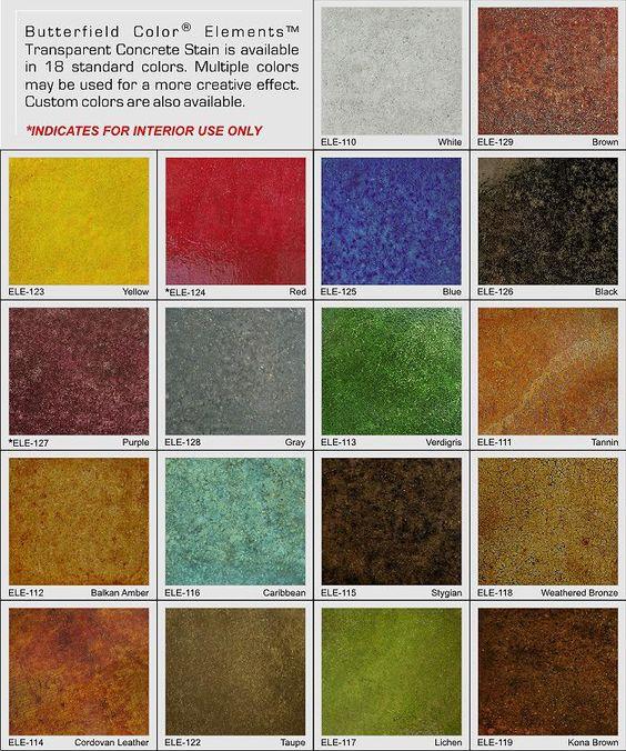 acid stain concrete colors - Google Search