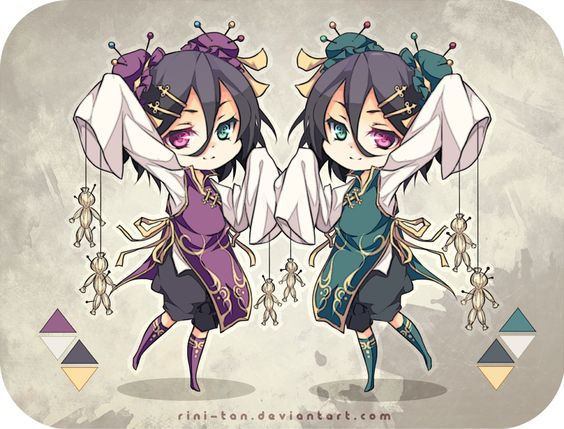 Adoptable ~ Voodoo Twins [CLOSED] by Riniuu on deviantART