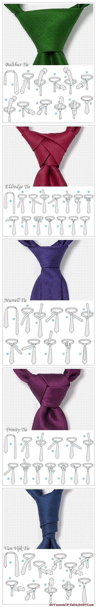 Adventurous tie knot instruction