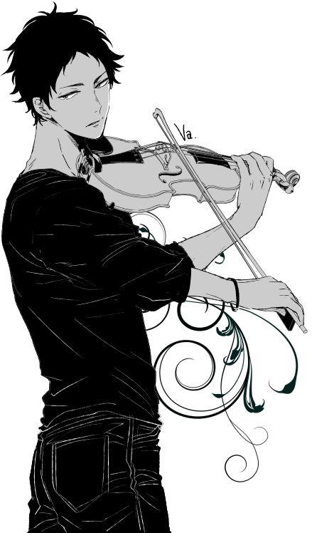 Akaashi playing the violin ❤️