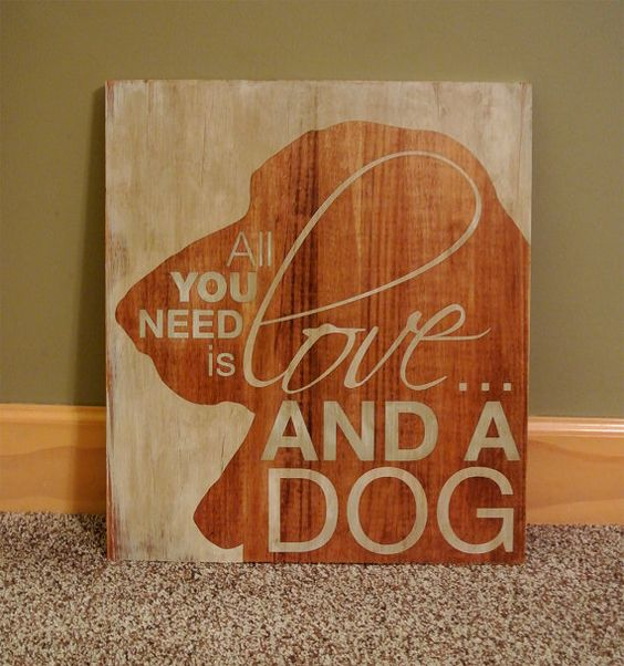 All You Need is Love and a Dog Painted by CreativeSignLanguage, $