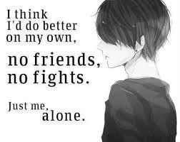 alone anime boy