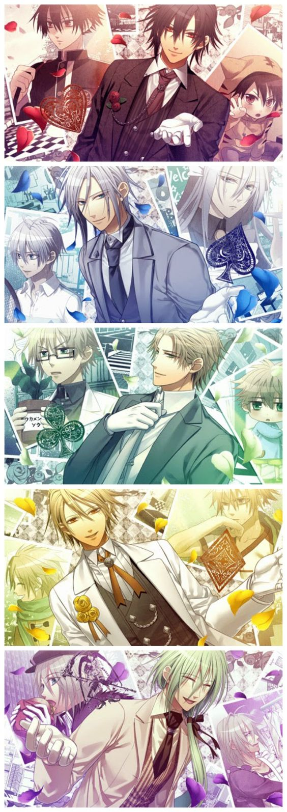 Amnesia Later CG (Shin, Ikki, Kent, Toma & Ukyo)