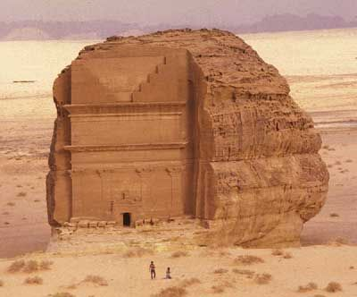 An ancient archaeological site in Saudi Arabia.