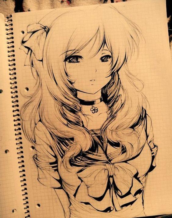 anime drawing - 55 Beautiful Anime Drawings